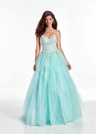 Gorgeous Tulle Sweetheart Neckline Floor-length A-line Prom Dresses With Beaded Lace Appliques