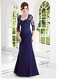 Stunning Chiffon & Tulle Sweetheart Neckline A-line Evening Dress With Train