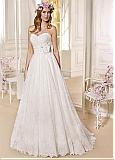 Marvelous Lace & Satin Sweetheart Neckline A-line Wedding Dresses With Beadings