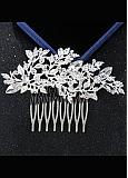 In Stock Gorgeous Alloy Silver Wedding Hair Ornament With Rhinestones