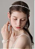 In Stock Glamorous Alloy Sliver Wedding Hair Jewelry Sets